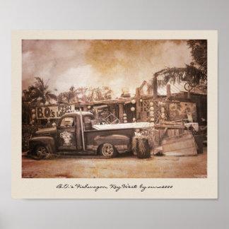 B.O.'s Fishwagon Key West Poster