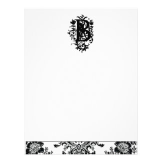 """B"" Ornate Baroque Monogram Letterhead Design"