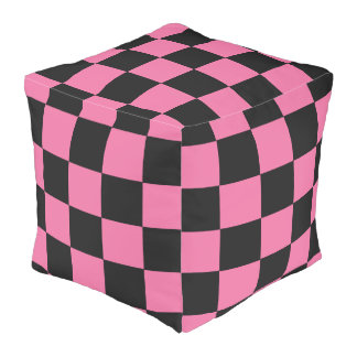 B+Pk Checker Cube Bean Bags Pouf