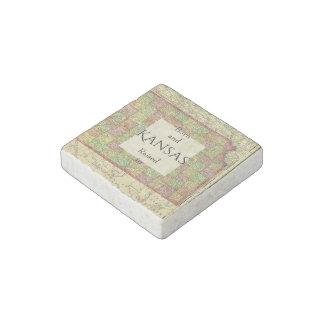 B&R State Kansas Stone Magnets