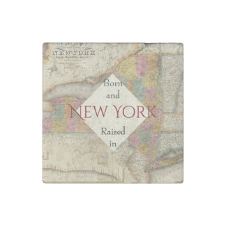 B&R State New York Stone Magnets