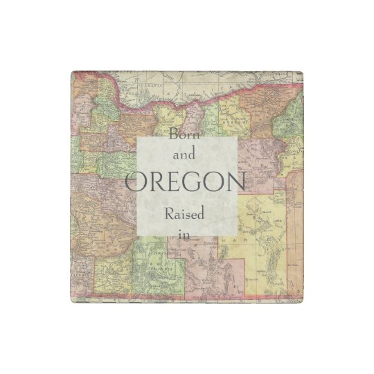 B&R State Oregon Stone Magnets