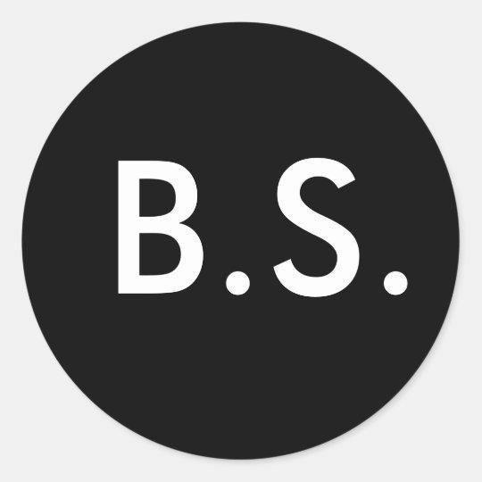B.S. CLASSIC ROUND STICKER