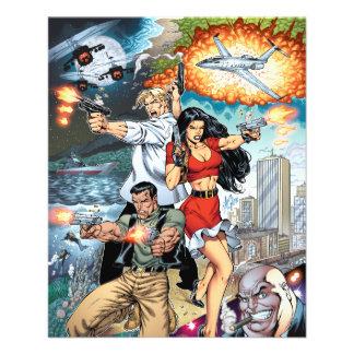 B@stard Stew Action Comic Art by Al Rio Full Colour Flyer