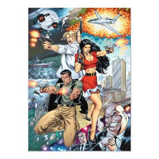 B@stard Stew Action Comic Art by Al Rio Personalized Invite