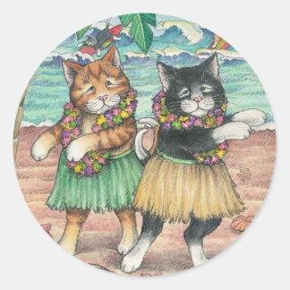 B & T #10 Hula Stickers