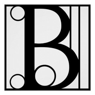 B - Typography Initial Perfect Poster