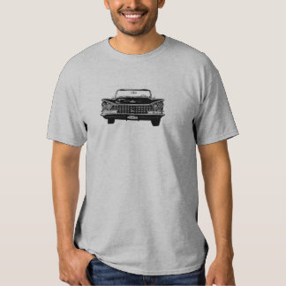 B&W 59 Buick front full on Tshirt
