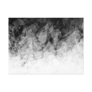 B&W Abstract Facets - Canvas Print