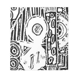B & W Abstract Pattern Notepad