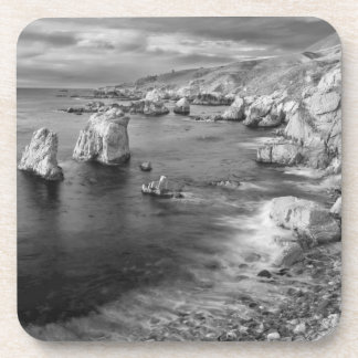 B&W beach coastline, California Coaster