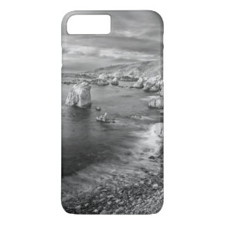 B&W beach coastline, California iPhone 7 Plus Case