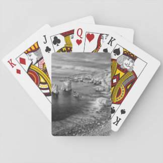 B&W beach coastline, California Poker Deck