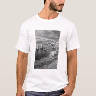 B&W beach coastline, California T-Shirt