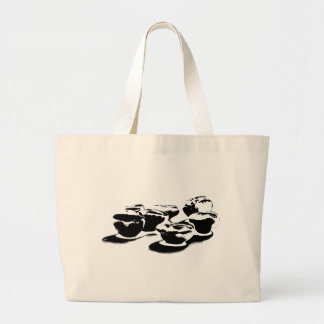 B&W Beans By Ben Large Tote Bag
