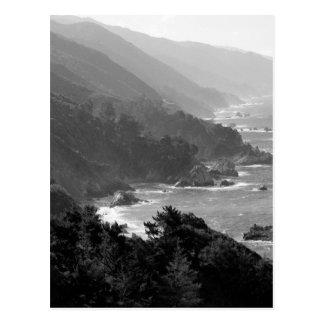 B&W Big Sur Postcard