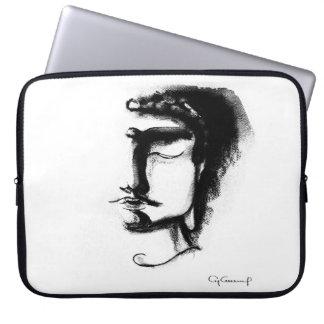 B&W BUDDHA FACE Neoprene Laptop Sleeve 15 inch