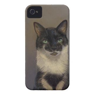 B&W Cat iPhone 4 Case