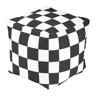 B+W Checker Cube Bean Bags Pouf
