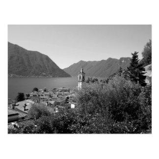 B&W Como Lake Postcard