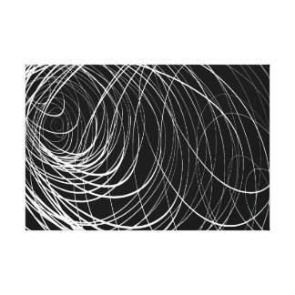 B&W Complex Swirl - Canvas Print