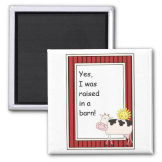 B & W Dairy Cow - Farmyard Barnyard Friend - Kids Magnet