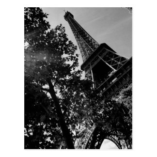 B&W Eiffel Tower 2 Postcard