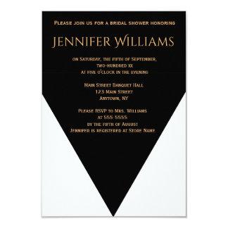 B&W Geometric Modern bridal shower invitations