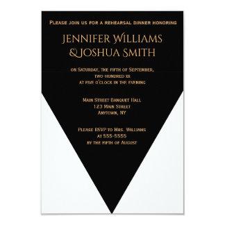 B&W Geometric Modern rehearsal dinner invitations