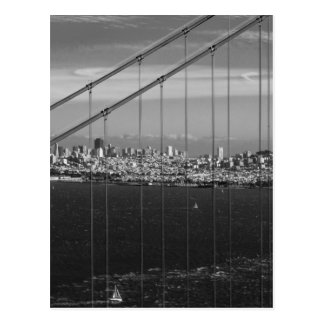 B&W Golden Gate Bridge Postcard