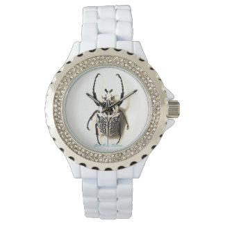 B&W Goliath Beetle Insect Watch Jewelry