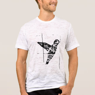 B&W Graffiti Hummingbird T-Shirt