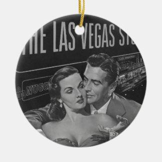 B&W Las Vegas poster Ceramic Ornament