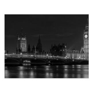 B&W London Postcard