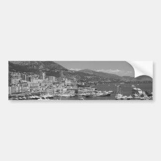 B&W Monaco Bumper Sticker