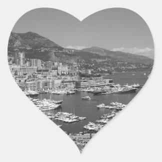 B&W Monaco Heart Sticker