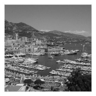 B&W Monaco Perfect Poster