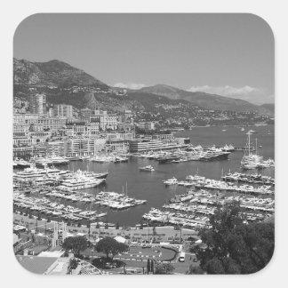 B&W Monaco Square Sticker