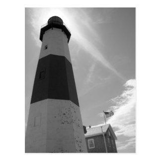 B&W - Montauk Lighthouse - Post Card