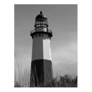B&W - Montauk Lighthouse - Post Card 2