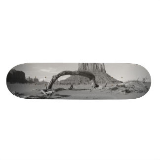 B&W Monument Valley in Arizona/Utah 2 Skate Board
