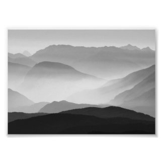 B&W Mountains Photo