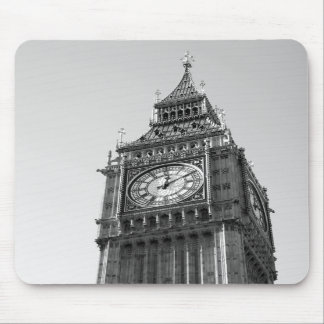 B/W Mousepad of Big Ben London