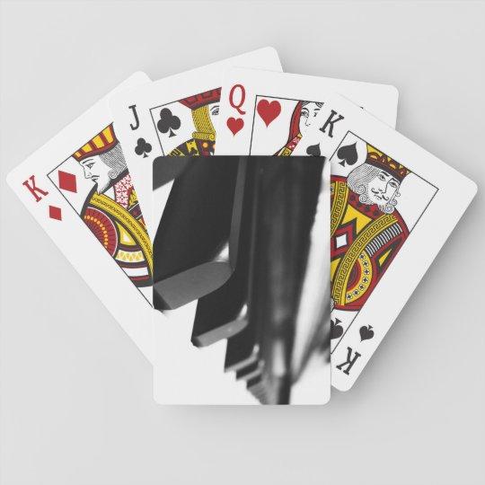 B&W Piano Keys Poker Deck