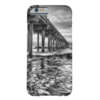B&W pier at dawn, California Barely There iPhone 6 Case