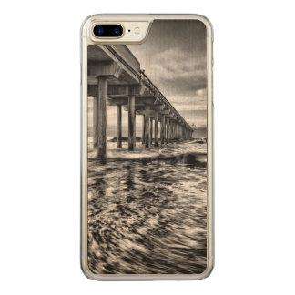 B&W pier at dawn, California Carved iPhone 7 Plus Case