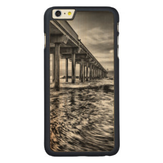 B&W pier at dawn, California Carved Maple iPhone 6 Plus Case