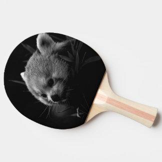 B&W red panda Ping Pong Paddle