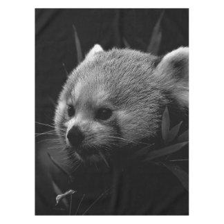 B&W red panda Tablecloth