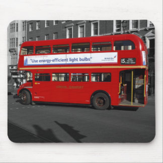 B/W Red Tinted London Red Bus Mouse Pad